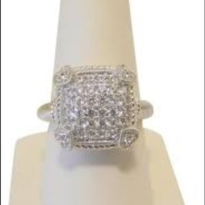 Judith Ripka .925 SS Olivia Diamonique Pave Ring